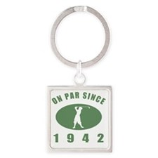 1942 Golfers Birthday Square Keychain