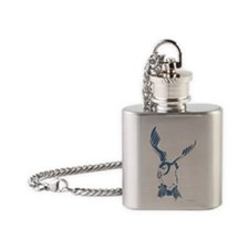 Puffin Landing Flask Necklace
