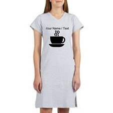 Custom Coffee Icon Women's Nightshirt
