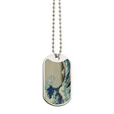 Great Wave Mt. Fuji Dog Tags