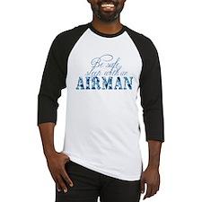 Funny Airman's girlfriend Baseball Jersey