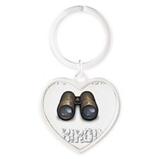 Cant Talk Now Im Birding Birder T-S Heart Keychain
