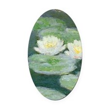 Claude Monet Water Lilies Oval Car Magnet