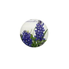 Texas bluebonnet Mini Button