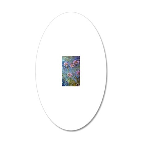 Monet Agapanthus 20x12 Oval Wall Decal