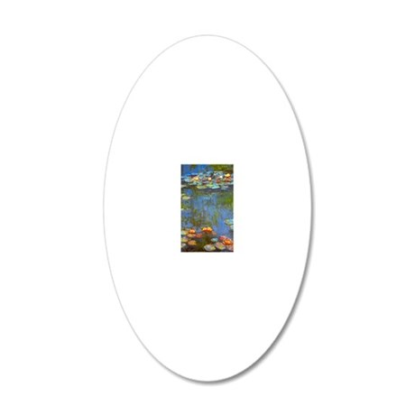 Claude Monet Water Lilies 20x12 Oval Wall Decal