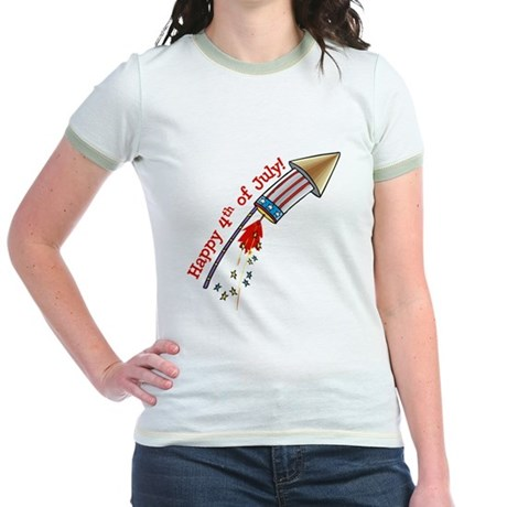 4th of July Rocket Jr. Ringer T-Shirt