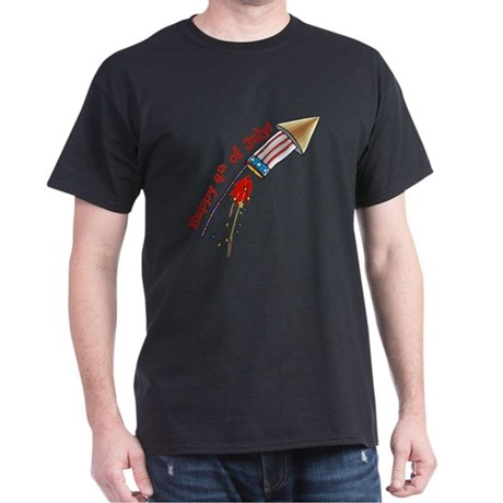 4th of July Rocket Dark T-Shirt