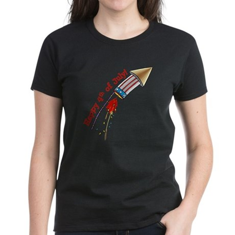 4th of July Rocket Women's Dark T-Shirt