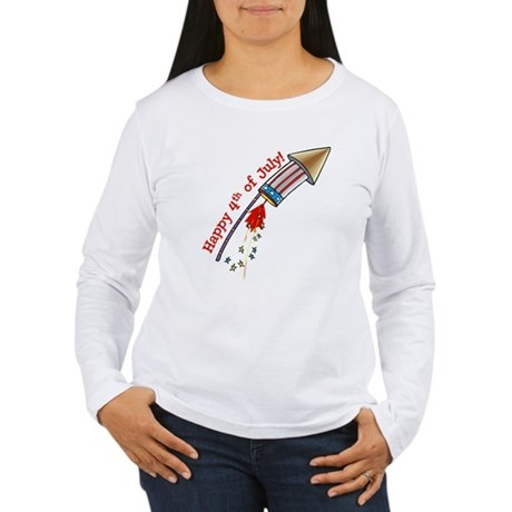 4th of July Rocket Women's Long Sleeve T-Shirt