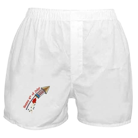 4th of July Rocket Boxer Shorts