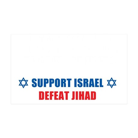 Support Israel, Defeat Jihad 35x21 Wall Decal