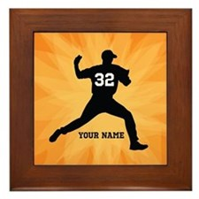 Personalized Baseball Pitcher Framed Tile
