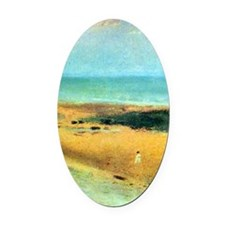 Edgar Degas Beach At Low Tide Oval Car Magnet