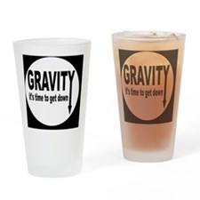 gravitybutton Drinking Glass