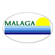 Malaga, Spain Oval Decal