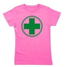 Simple Green Transparent Girl's Tee