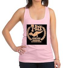 t-rex-push-ups-BUT Racerback Tank Top