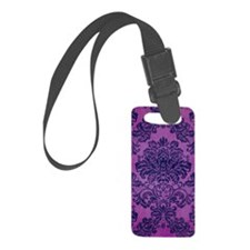 Damask Luggage Tag
