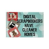 Digital Scrapbookers Rectangle Magnet