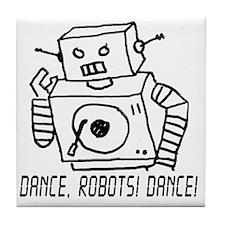 Dance Robots Dance Tile Coaster