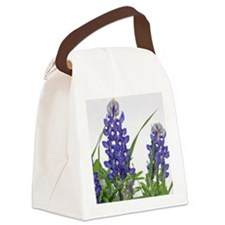 Texas bluebonnet circle charm Canvas Lunch Bag