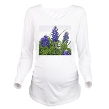 Texas bluebonnets mo Long Sleeve Maternity T-Shirt