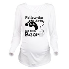 Follow The Dots And  Long Sleeve Maternity T-Shirt