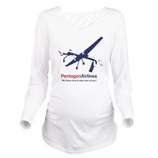Pentagon Airlines Long Sleeve Maternity T-Shirt