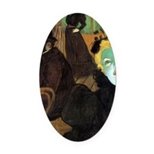 Toulouse-Lautrec At the Moulin Rou Oval Car Magnet