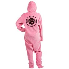 slow loris circular logo Footed Pajamas