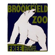 Vintage Visit the Zoo Throw Blanket