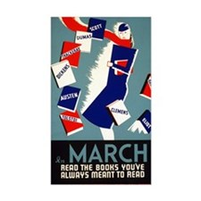 Vintage March is for Reading Decal
