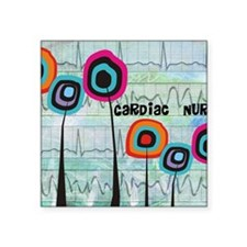 "cardiac nurse blanket Square Sticker 3"" x 3"""