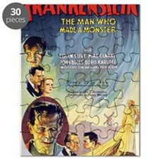 Vintage Frankenstein Horror Movie Puzzle