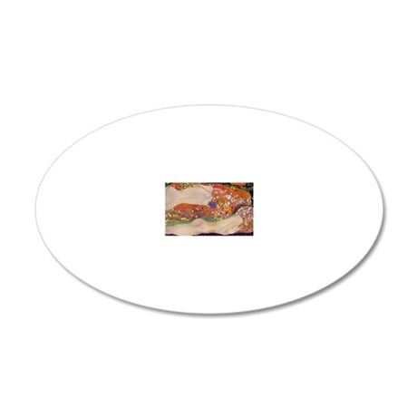 Gustav Klimt Water Serpents 20x12 Oval Wall Decal