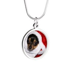 AbbeyXmas16Pillow Silver Round Necklace