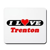 I Love Trenton Mousepad