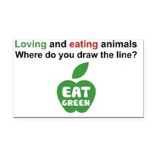 Eat Green Rectangle Car Magnet