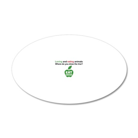 Eat Green 20x12 Oval Wall Decal