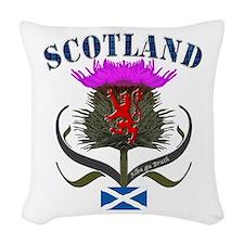 Tartan Scotland thistle lion s Woven Throw Pillow