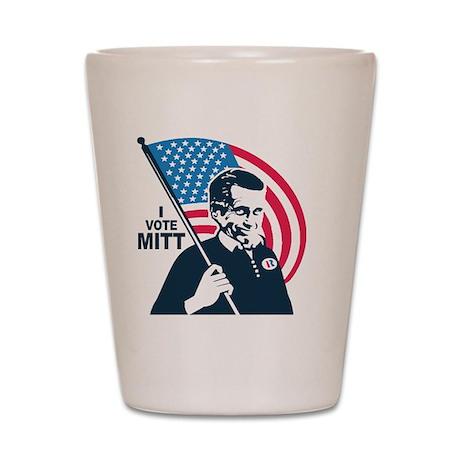 I Vote Mitt Shot Glass