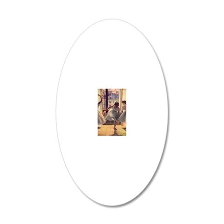 Edgar Degas Three Dancers In 20x12 Oval Wall Decal