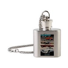 1960s Muscle Cars Flask Necklace