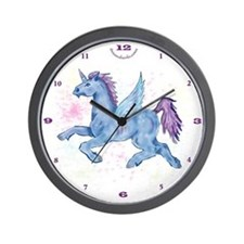 Winged Unicorn PNK Wall Clock