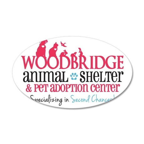 Woodbridge Animal Shelter 35x21 Oval Wall Decal