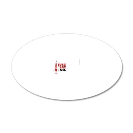 Hypo-Derrick Just Say No - 20x12 Oval Wall Decal