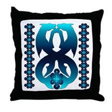 Celtic Horse & Dolphin Throw Pillow