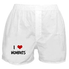 I Love Wombats Boxer Shorts