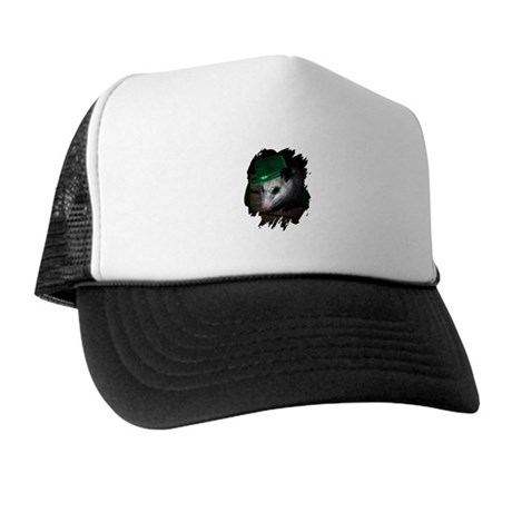St. Patrick's Day Possum Trucker Hat
